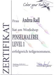 Zertifikat: Pinselmalerei Level 1